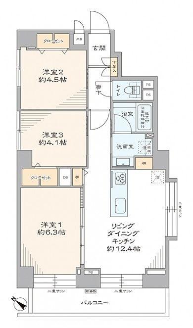 日商岩井第1玉川台マンション 価格4,780万円(税込)