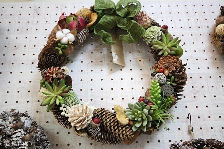 12月8・9日松陰神社出店の「あーす&胡桃」のおしゃれなリースでクリスマスの準備をしよう♪